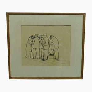 Modern Drawing by Bertil Anzen, 1953