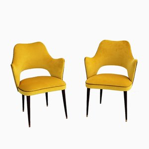 Italian Side Chairs, 1960s, Set of 2