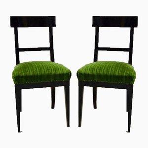 Biedermeier Dining Chairs, Set of 2