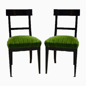 Biedermeier Esszimmerstühle, 2er Set