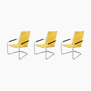 German Mid-Century Garden Stacking Chairs from Mauser, Set of 3