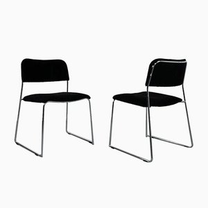 Stackable Dining Chairs, 1970s, Set of 4