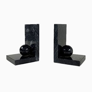 Geometric Marble Bookend, 1980s