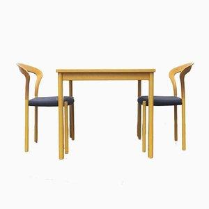 Deutsche Lotus Stapelstühle und Tisch von Hartmut Lohmeyer für Kusch + Co, 3er Set