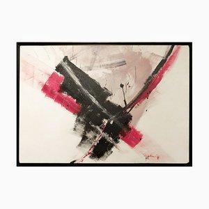 Abstraktes Acryl auf Leinwand von Jean Miotte, 1926-2016