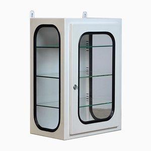 Small White Lacquered Medicine Cabinet, 1970s