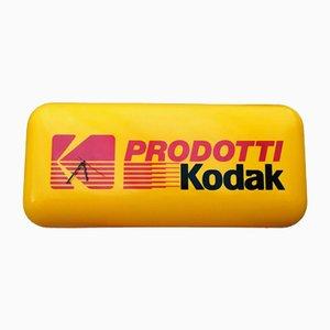 Insegna pubblicitaria Kodak in plexiglas con orologio, anni '70