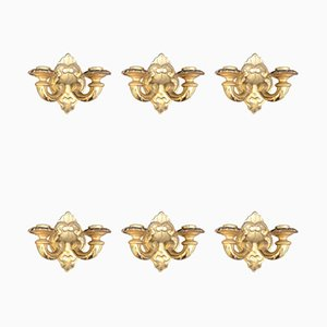 Late 19th Century Golden Sconces, Set of 6
