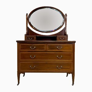 Antique English Mahogany Dressing Table by Hobson & Co