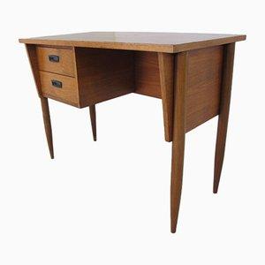 Skandinavischer Vintage Teak Schreibtisch im Stil von Arne Vodder, 1950er