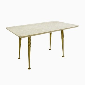 Marble Top Side Table With Twisted Legs