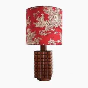 Hölzerne Tischlampe aus Kastanienholz von De Coene, 1960er