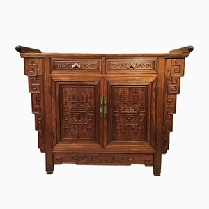 Late 19th Century Hardwood Side Cabinet