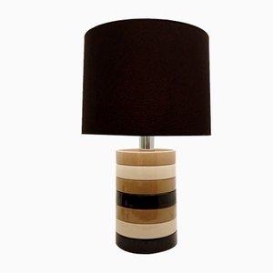 Ceramic Discs Italian Table Lamp, 1970s