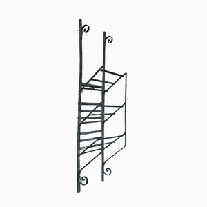 Antique Wrought Iron Magazine Rack, 1900s