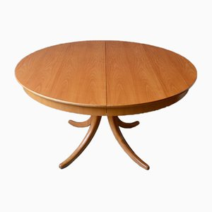 Scandinavian Round Dining Table, 1960s