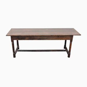Antique Slim Oak Rustic Farmhouse Table