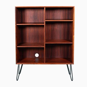 Danish Rosewood Bookcase on Hairpin Legs from Brouer Møbelfabrik, 1950s