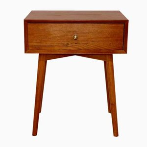 Swedish Teak & Beech Nightstand, 1960s