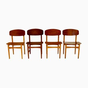 Teak Dining Chairs by Børge Mogensen, 1950s, Set of 4