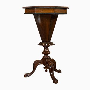 Antique Walnut Trumpet Shape Game Table, 1890s