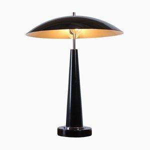 Lampada da tavolo UFO postmoderna nera di Hala, anni '80