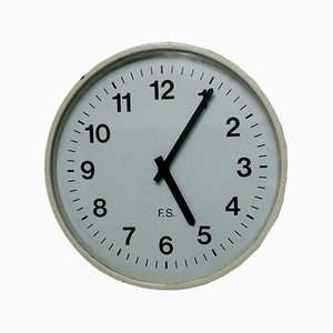 Railway Station Wall Clock from Fratelli Solari, 1950s
