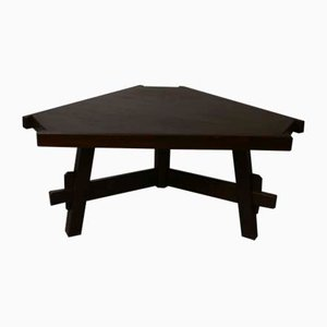 Mid-Century Brutalist Triangular Dining Table