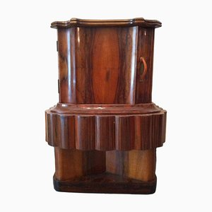 Italian Wooden Bedside Table, 1920s