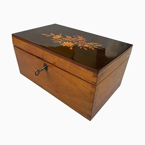 Biedermeier Ebonized, Inlays & Cherry Casket Box, South Germany, 1840s