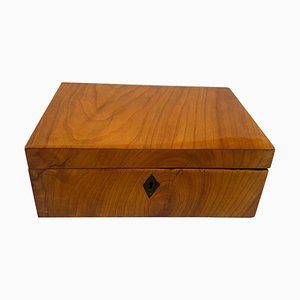 Neoclassical Biedermeier Casket Box in Cherry Veneer, 1820s