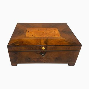 Viennese Walnut, Birch, Cherry & Maple Biedermeier Box, 1820s