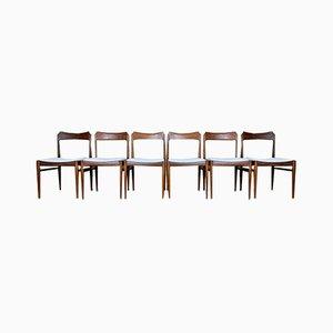 Chaise de Salon en Teck, 1970s, Set de 6