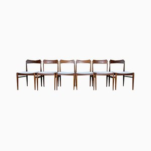 Teak Dining Chair, 1970s, Set of 6