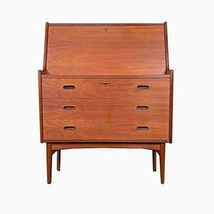 Teak Secretaire by Arne Wahl Iversen for Vinde, 1960s