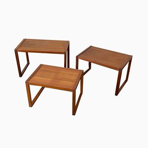 Teak Nesting Tables from Vi-ma Mobler, 1960s