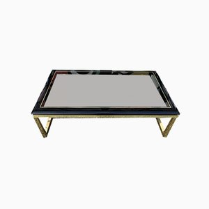 Black Lacquered Coffee Table, 1970s