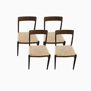 Model 75 Chairs by Niels O Muller, 1950s, Set of 4