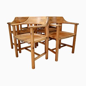Pine Dining Chairs by Rainer Daumiller for Hirtshals Savvaerk, 1970s, Set of 6