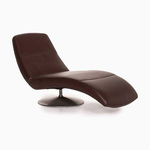 Leather Dark Brown Lounge Chair with Relax Function from Ewald Schillig