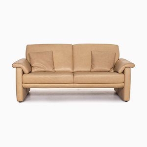 Lucca Beige Leather Sofa from Willi Schillig