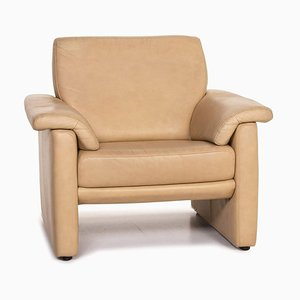 Lucca Beige Leather Armchair from Willi Schillig