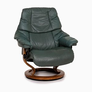 Reno Dark Green Leather Armchair from Stressless