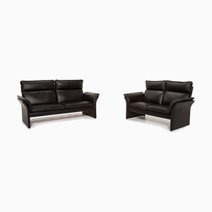 Scala Leather Sofa Set from Dreipunkt, Set of 2