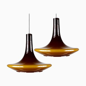 Murano Glass Pendant Lights, 1960s, Set of 2