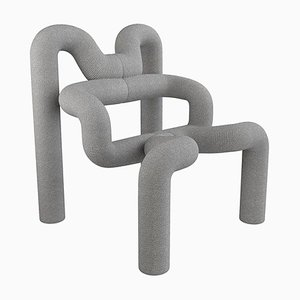 Light Grey Armchair by Terje Ekstrom, Norway, 1980s