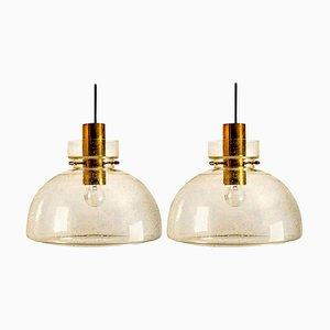 P210 Pendant Lamps by Herbert Proft for Limburg Glashütte,1960s, Set of 2