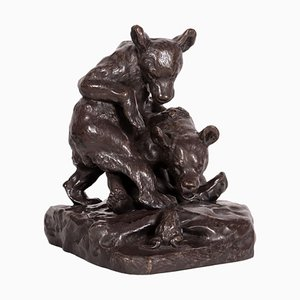 Bronze Bears and Frog