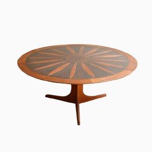 Round Teak Coffee Table by Ico & Louisa Parisi