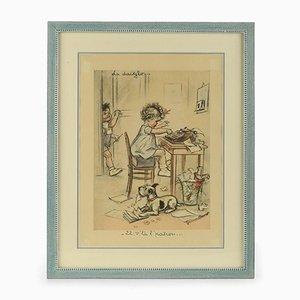 Germaine Bouret, Framed Engraving